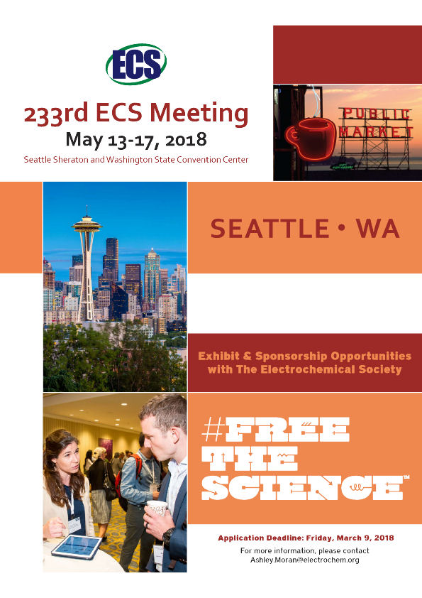 visit us at 233rd ECS Meeting in Seattle