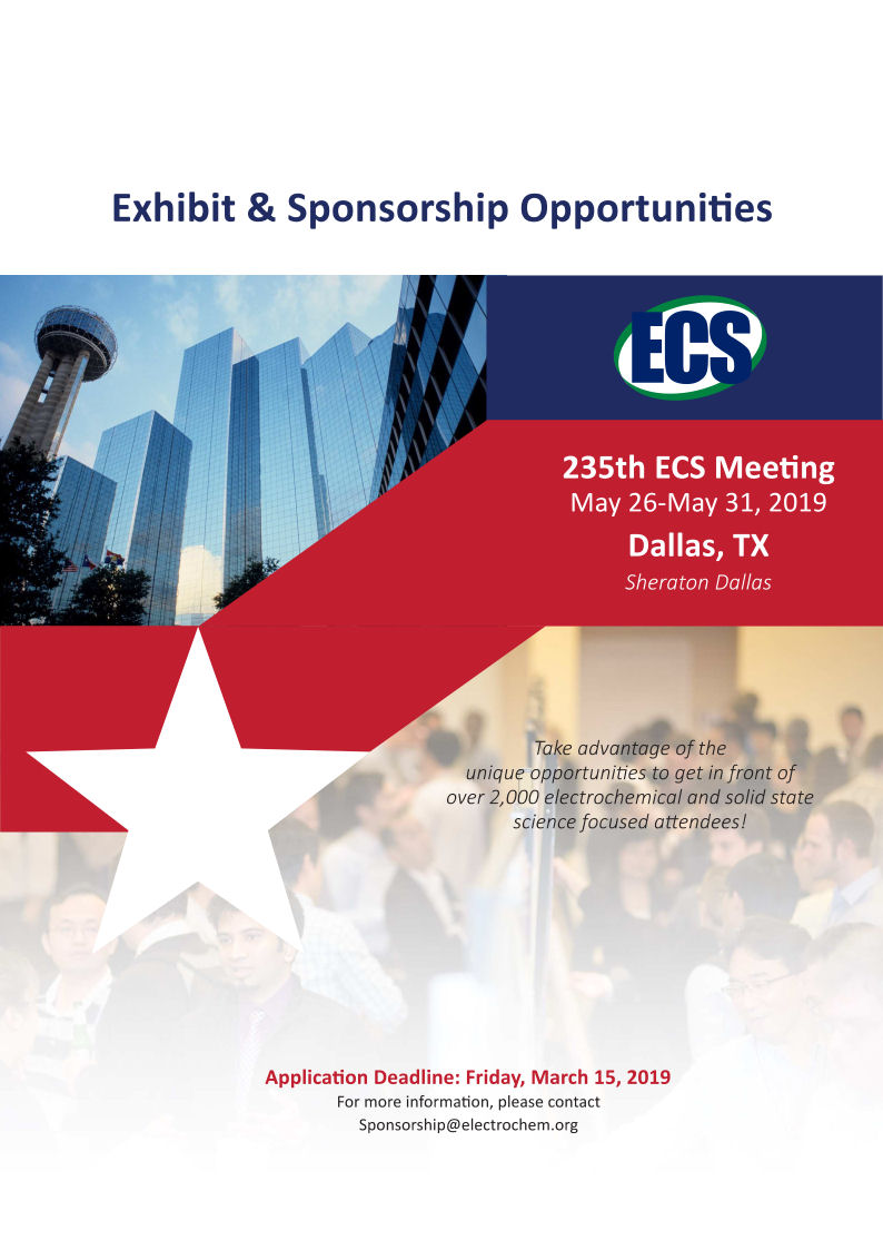 visit us at 235th ECS Meeting in Dallas, TX