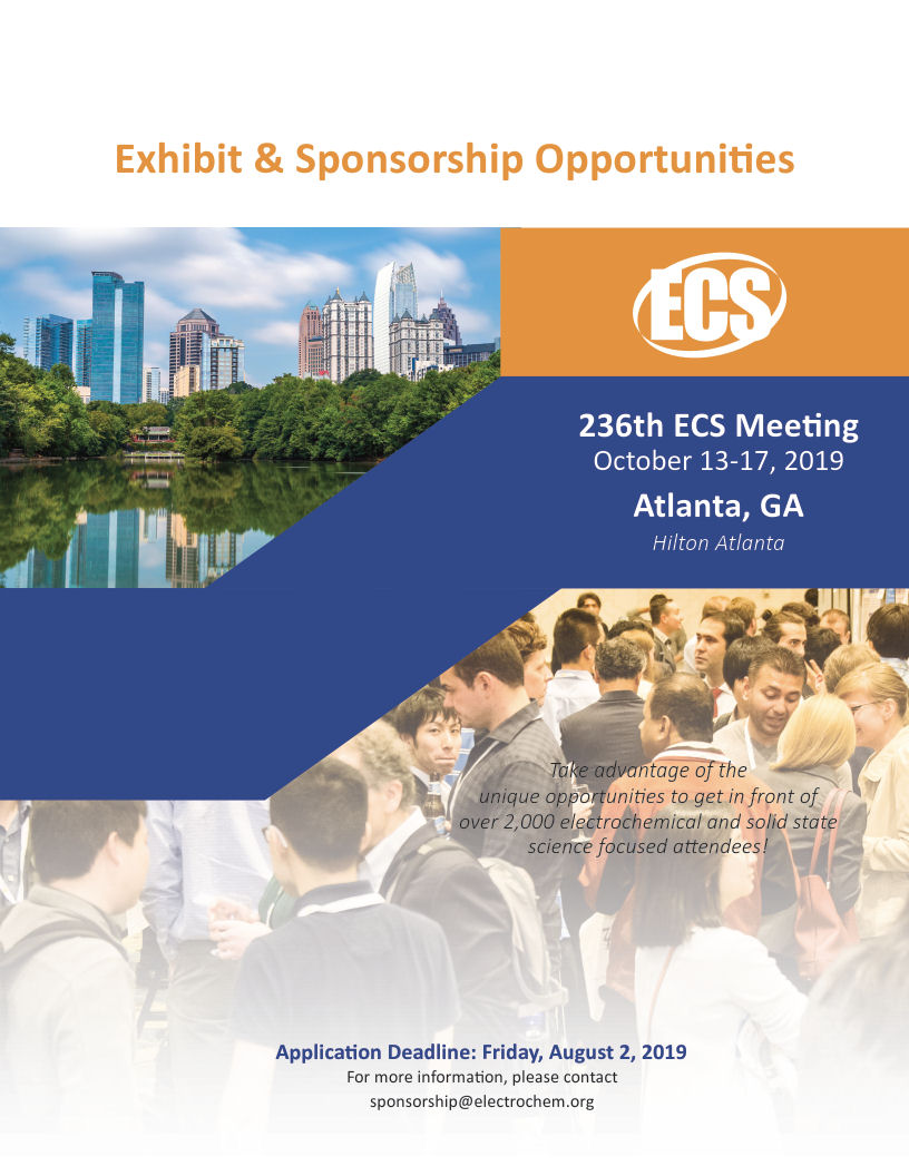 visit us at 236th ECS Meeting in Atlanta, GA
