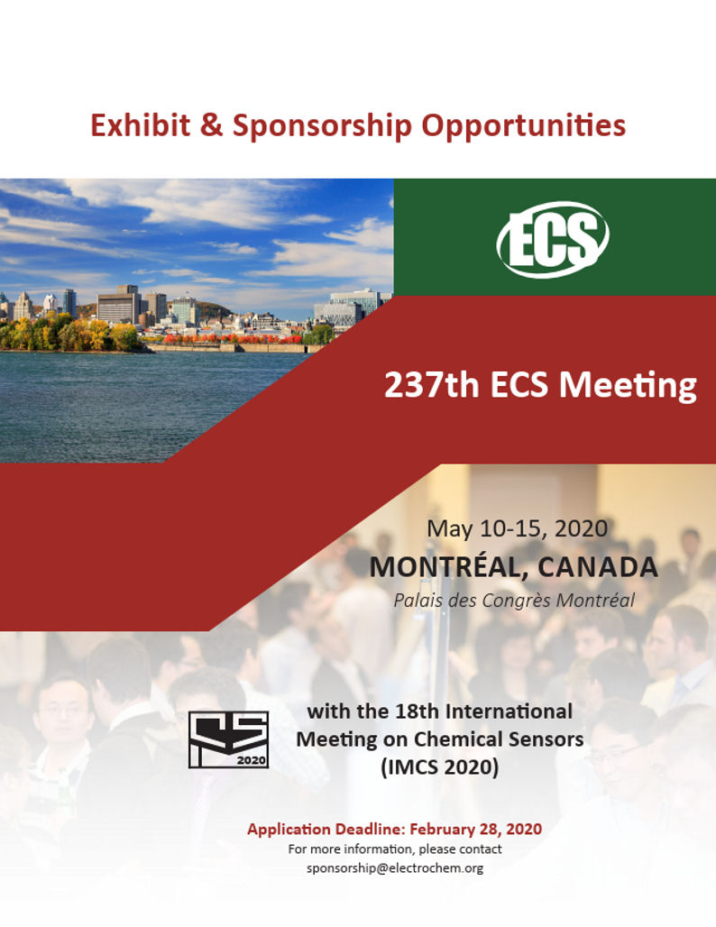 visit us at 237th ECS Meeting in Montreal, Canada