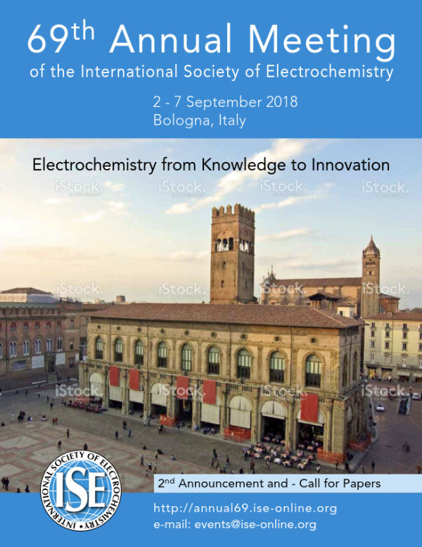 visit us at 69th Annual Meeting of the ISE in Bologna, Italy