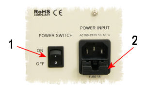 CSA-3 Power cord connection