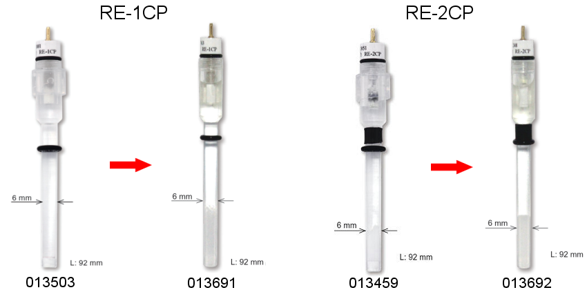 Product renewed: RE-1CP Reference electrode (Ag/AgCl/Saturated KCl and RE-2CP Reference electrode)