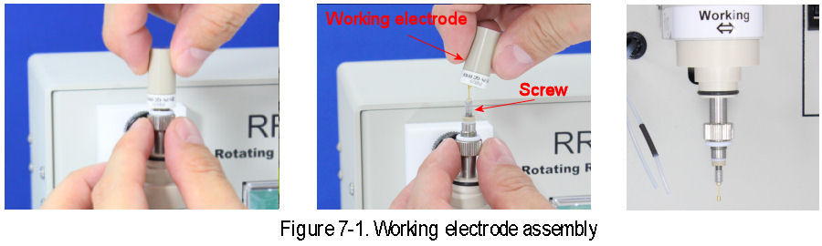 RRDE-3A Working electrode assembly